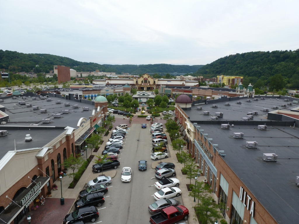 The Waterfront is a super-regional open air shopping mall spanning the three boroughs of Homestead, West Homestead, and Munhall near Pittsburgh. The shopping mall sits on land once occupied by U.S. Steel's Homestead Steel Works plant, which closed in