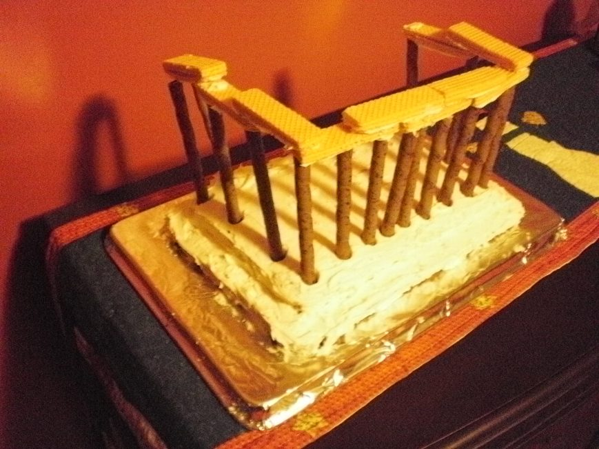 Ruined Parthenon Cake