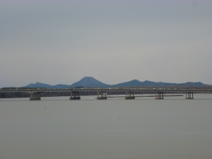 View of Pinnacle Mountain from the Big Dam Bridge